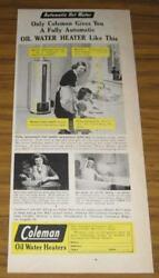 1947 AD COLEMAN OIL WATER HEATERS MOM amp; DAUGHTER $10.72