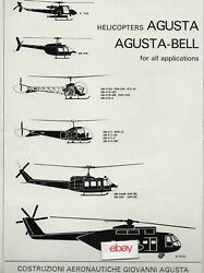 AUGUSTA GIOVANNI AGUSTA 1967 HELICOPTERS FOR ALL APPLICATIONS A106 TO A101G AD $9.99