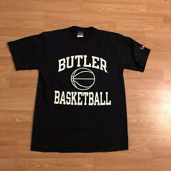 Vintage Champion Butler University Basketball T Shirt Bulldogs Graphic Tee Sz. L