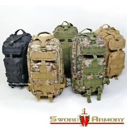 Tactical Backpack Army Assault DayPack Hiking Trekking Camping Bug Out Bag $27.98