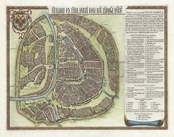 1642 Gerritsz and Blaeu City Map or Plan of Moscow Russia