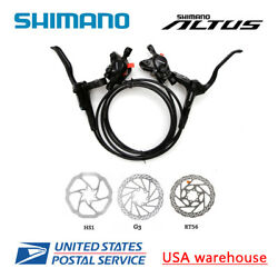 SHIMANO Altus BR-BL-MT200 Hydraulic Disc Brake Set MTB F&R HS1 G3 RT56 OE $64.99