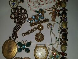 Vintage Lot Of Jewelry All For One Money