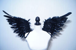 Black wings Angel costume cosplay beautiful feathers