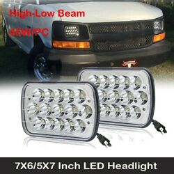 For Chevy Express Cargo Van 1500 2500 3500 Truck 7x6 6x7 LED Headlight Pair $35.99
