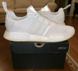 Adidas NMD R1 Cloud White Gum 12 Bottom Men's Running Ultra D96635 Yeezy 1 2 3 4 $100.00
