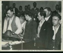 1936 Press Photo Arraignment of Charles A. Poole Murder Suspects Detroit