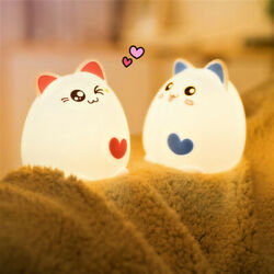 Colorful Bedside USB Charge Lamp LED Cute Bedroom Night Light Home Decor $13.31
