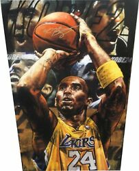 Kobe Bryant Hand Signed Autographed 26X41 Canvas LA Lakers Steven Holland