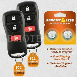 2 New Replacement Keyless Entry Remote Key Fob for Nissan Frontier Titan Xterra $7.56