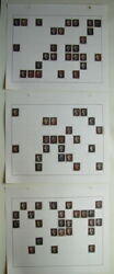 GREAT BRITAIN #1 Penny Black. Lot of 75 Stamps Plated by Check Letters