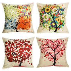Outdoor Throw Pillow Covers Set of 4 Patio Garden Couch Cushion Case 18