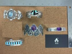 Vintage Southwestern Sterling Silver Bracelet Lot 3 - Sold Individually on Req.