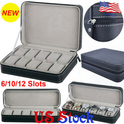Jewelry Portable Travel Zipper Collector Storage Box 61012 Slots Watch Case