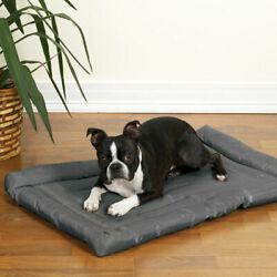 Charcoal Dog Beds Water Resistant Nylon Crate Mat Indoor Outdoor Use Pick Size $29.89