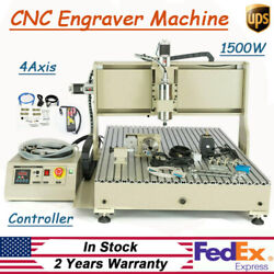 CNC 6090 Router Milling Engraving Machine Wood Carving 4Axis With Controller