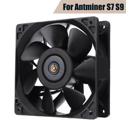 6Pcs 6000RPM Cooling Fan Replacement 4-pin For Antminer Bitmain S3 S5 S5+ S7 S9