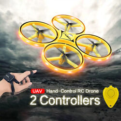 360° Rotating Smart UFO Drone Kids Flying Toys Hand Control Infrared Avoidance $27.99