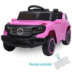 Ride On Car 6V Electric Power Kids Toy 3 Speed Music Player Light Remote Control $105.59