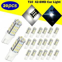 20X Super White T10921194 RV Trailer 42-SMD 12V Backup Reverse LED Light Bulbs