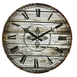 Large Wall Clocks Home Decor Antique Country Europe Retro 38 cm Room Shop Office