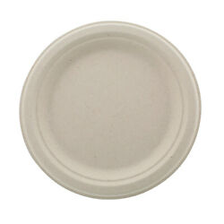 Spec101 Bagasse Compostable Plates 7in Natural Sugarcane Dining Plates 125pk $11.54