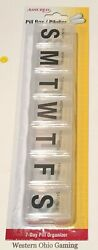 JUMBO 7 Day Pill Box Medication Tablet Organizer NEW Large Big Letters Clear $6.89