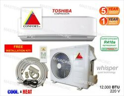 12,000 BTU Ductless Air Conditioner, Heat Pump Mini Split 220V 1 Ton With/KIT $489.01