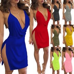Women#x27;s Ladies Bandage Bodycon Sleeveless Evening Party Cocktail Club Mini Dress $10.99