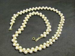 Vintage Gorgeous Faux Pearl & Gold Tone Necklace  ~ FREE SHIPPING