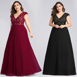 Ever Pretty Plus Size Cocktail Evening Party Dresses Long Lace Prom Gowns 07344 $19.99