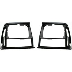 New Pack Set of 2 Headlight Door Bezel Left and Right Side Black LH RH For Jeep $25.85