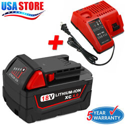 For Milwaukee M18 LITHIUM Battery 18V 48-11-1850 + 48-59-1812 M12 M18 Charger US $51.99