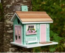 Tiny House She Shed 7 in x 7.5 in x 6.5 in Birdhouse