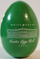 2019 White House Easter GREEN Wooden Egg Roll President Donald Melania Trump