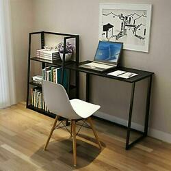 Folding Desk Corner Computer Writing Laptop Table Workstation Home Office Desk $51.90