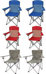 Folding Outdoor Portable Chair Seat Camping Fishing Picnic Beach Lawn (2 PACK) $32.99