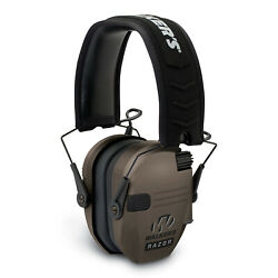 Walkers Razor Hearing Shooter Folding Earmuffs Brown (Certified Refurbished)