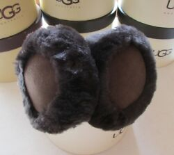 UGG Earmuffs Shearling Double U Chocolate NEW