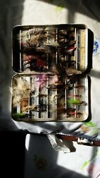 perrine #92 fly box full of vintage 1970s lures $45.00