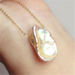 15-18MM Multi-Color Freshwater Petal Baroque Pearl Pendant Necklace flawless