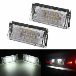 2x Canbus Error Free License Number Plate Light LED Lamp For BMW E46 1998-2005