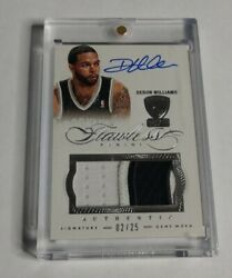 R17811 - DERON WILLIAMS - 201213 FLAWLESS - AUTOGRAPH PATCH - #225 - NETS -