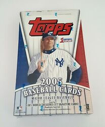 2005 Topps Series 1 One Factory Sealed HTA Jumbo Box Autographs Relics Rc's