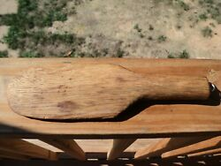 Antique Primitive Vintage  Wood Butter Paddle  Wooden Kitchen Tool