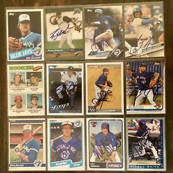 Various Toronto Blue Jays Signed Cards YOU PICK Autographs FREE Ship A-Z