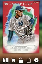 Topps BUNT Luis Severino Inception Red Base 15cc