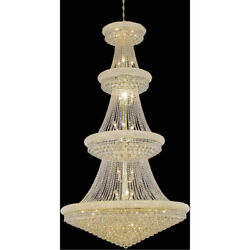 ASFOUR CRYSTAL CHANDELIER LARGE HIGH QUALITY FOYER LIGHTING FIXTURE 42 LIGHT 86