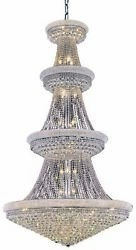 ASFOUR CRYSTAL CHANDELIERS LARGE HIGH QUALITY CHROME FOYER LIGHTING 42 LIGHT 86