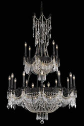 ASFOUR CRYSTAL CHANDELIERS DARK BRONZE LARGE FRENCH EMPIRE LIGHTING 27 LIGHT 63